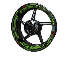 Kawasaki Z650 Wheel Stickers kit - Plus Design