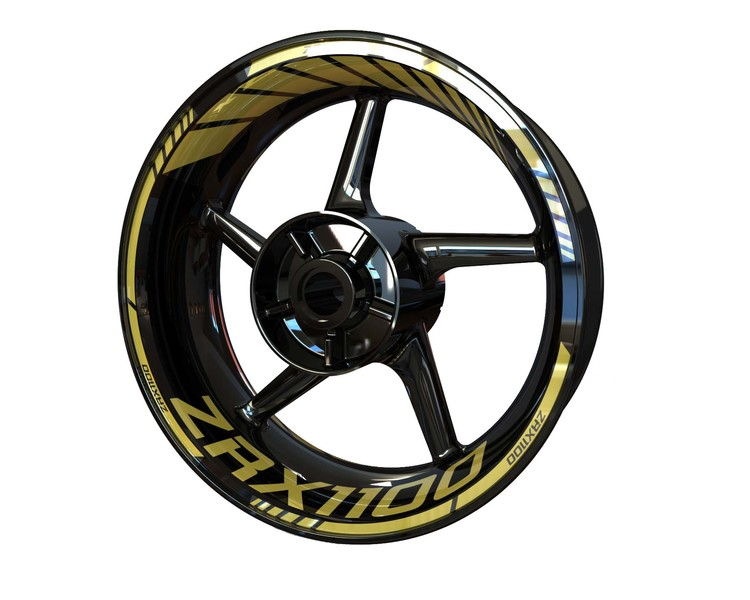 Kawasaki ZRX 1100 Wheel Stickers Standard (Front & Rear - Both Sides Included)