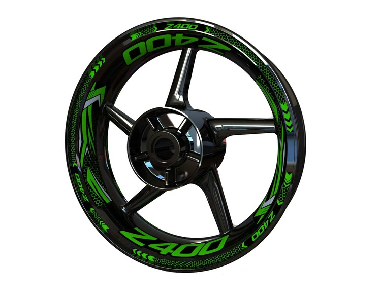 Z400 Wheel Stickers Plus (Front & Rear - Both Sides Included)