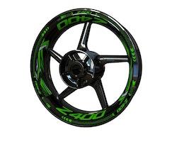 Kawasaki Z400 Wheel Stickers kit - Plus Design
