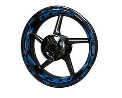Kawasaki Z300 Wheel Stickers kit - Plus Design