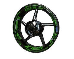 Kawasaki Z125 Wheel Stickers kit - Plus Design
