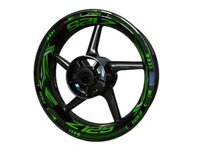 Kawasaki Z125 Wheel Stickers Plus (Front & Rear - Both Sides Included)