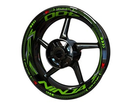 Ninja 400 Wheel Stickers Plus (Front & Rear - Both Sides Included)