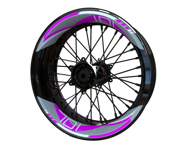HUSQVARNA 701 Rim Stickers 2-piece V2 (Front & Rear - Both Sides Included)