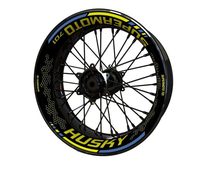 Husqvarna 701 Husky/Supermoto Wheel Stickers kit - Premium Design