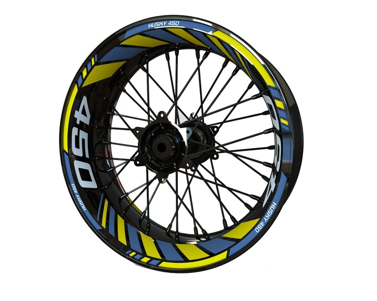 Husqvarna 450 Supermoto Wheel Stickers Standard (Front & Rear - Both Sides Included)