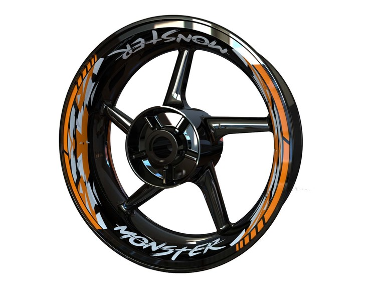 MONSTER Wheel Graphics Premium (Front & Rear - Both Sides Included)