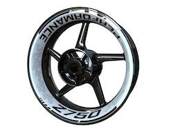 Kawasaki Z750 Wheel Stickers kit - Premium Design