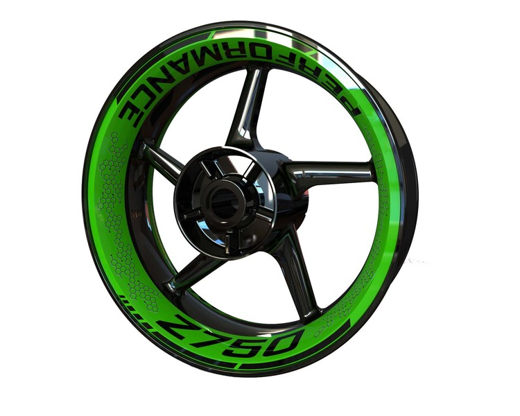 Kawasaki Z750 Wheel Graphics Premium (Front & Rear - Both Sides Included)