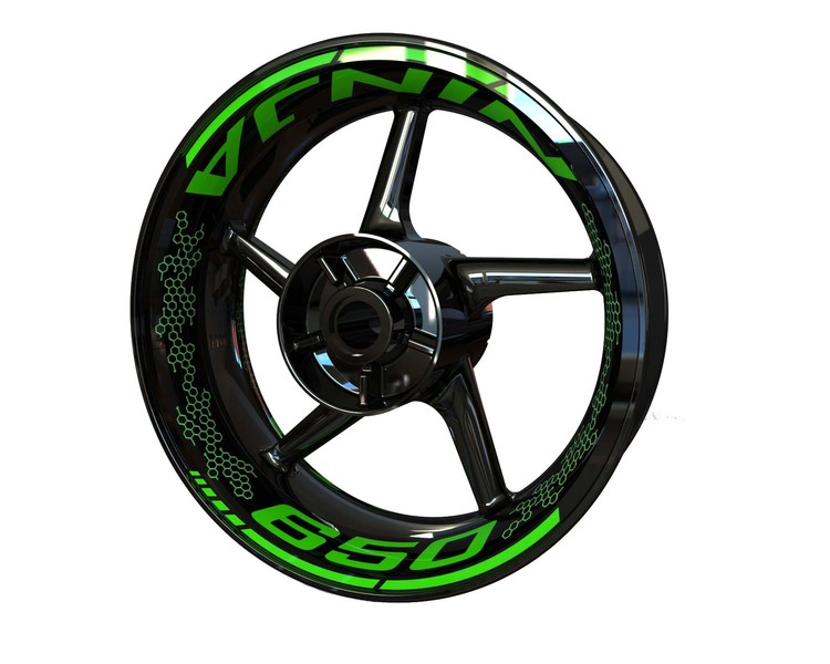 Ninja 650 Wheel Graphics Premium (Front & Rear - Both Sides Included)
