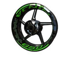 Kawasaki Ninja 650 Wheel Stickers kit - Premium Design