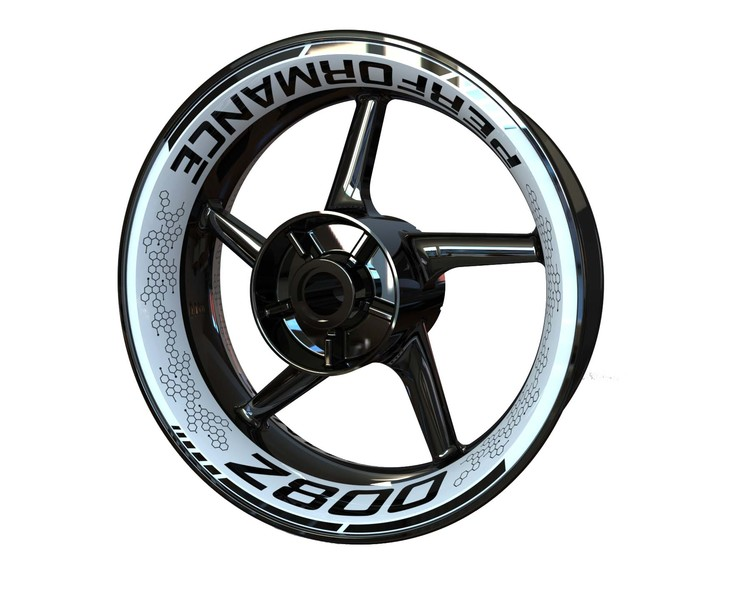Kawasaki Z800 Wheel Graphics Premium (Front & Rear - Both Sides Included)