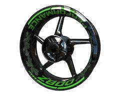 Kawasaki Z800 Wheel Stickers kit - Premium Design