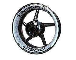 Kawasaki Z900 Wheel Stickers kit - Premium Design