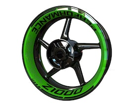 Kawasaki Z1000 Wheel Graphics Premium (Front & Rear - Both Sides Included)