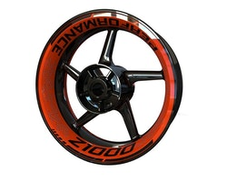 Kawasaki Z1000 Wheel Stickers kit - Premium Design