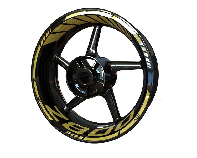 Kawasaki Z800 Wheel Stickers kit - Standard Design