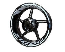 Kawasaki Z1000 Wheel Stickers kit - Standard Design
