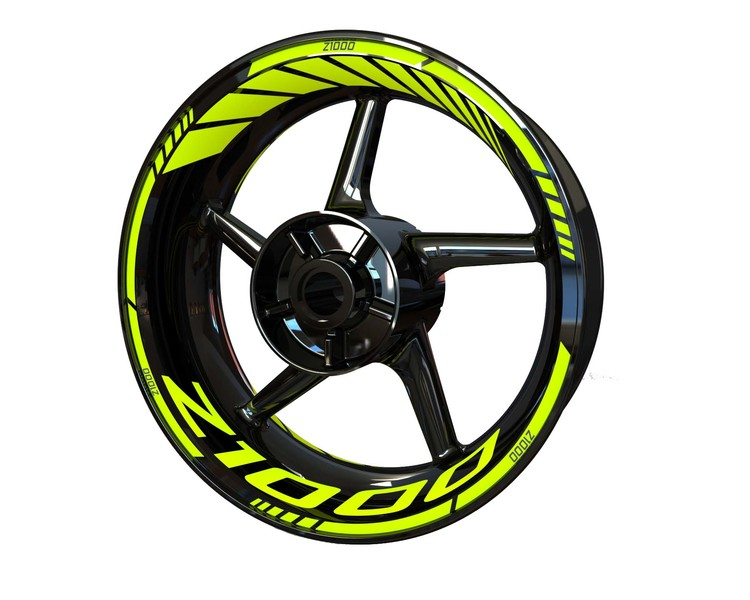 Kawasaki Z1000 Wheel Stickers Standard (Front & Rear - Both Sides Included)