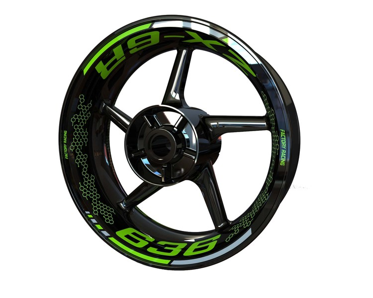ZX-6R Wheel Graphics Premium (Front & Rear - Both Sides Included)