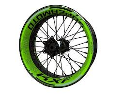 Kawasaki KXF Wheel Stickers kit - Premium Design