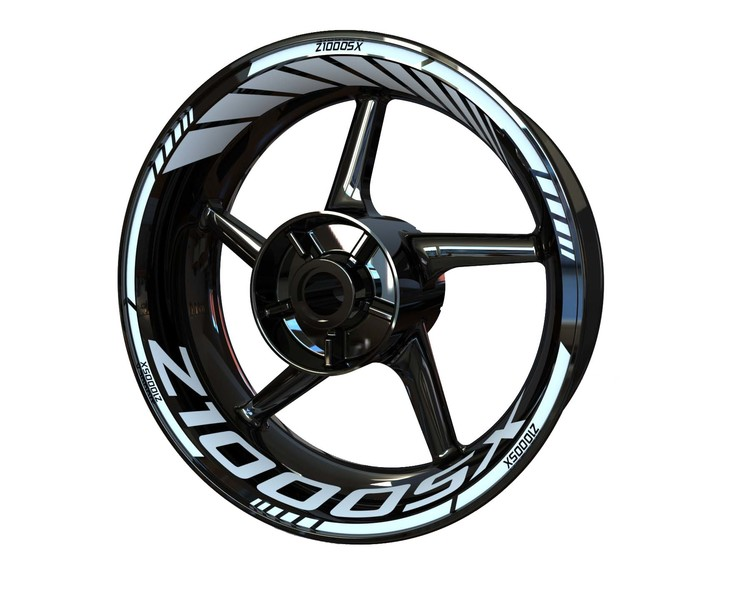 Z1000SX Wheel Stickers Standard (Front & Rear - Both Sides Included)