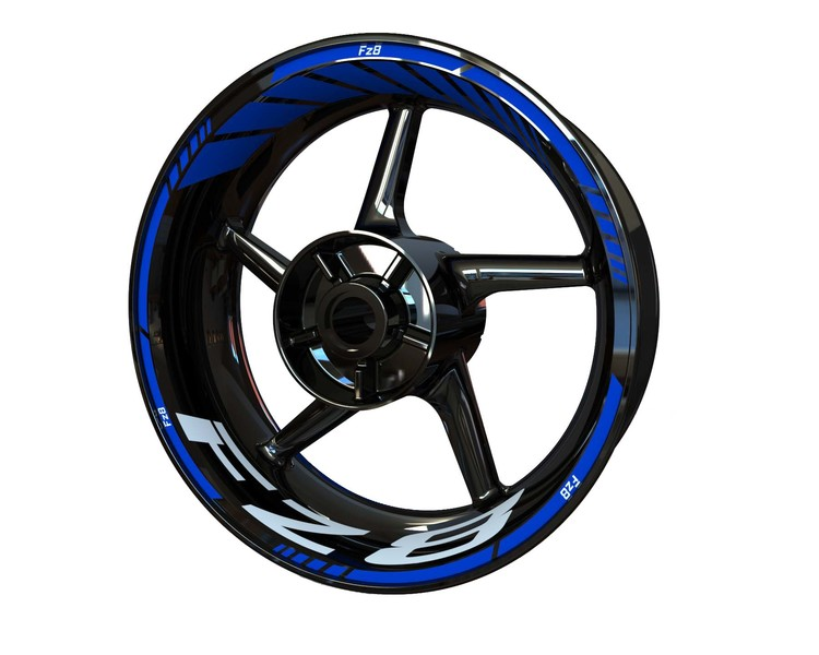 Yamaha FZ8 Wheel Stickers Standard (Front & Rear - Both Sides Included)