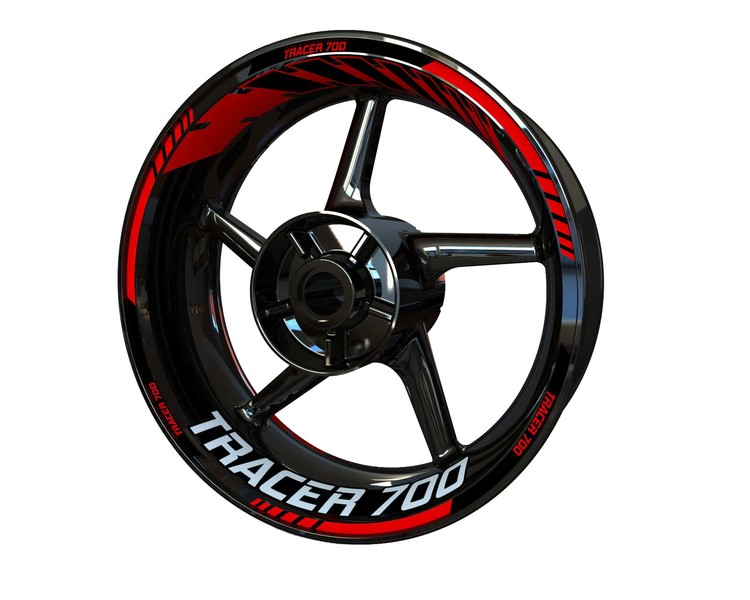 Yamaha Tracer 700 Wheel Stickers kit - Standard Design