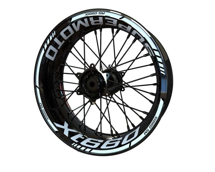 Yamaha XT660 SM Wheel Stickers kit - Standard Design