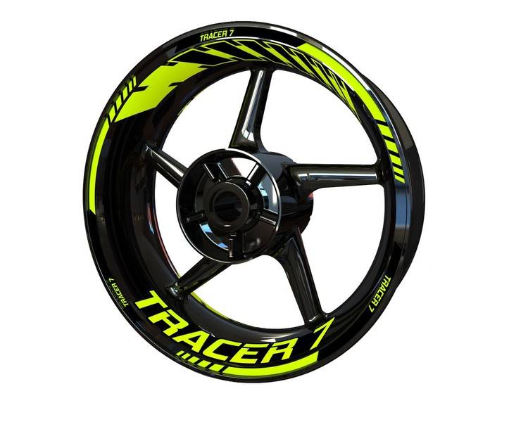 Tracer 7 Wheel Stickers Standard (Front & Rear - Both Sides Included)