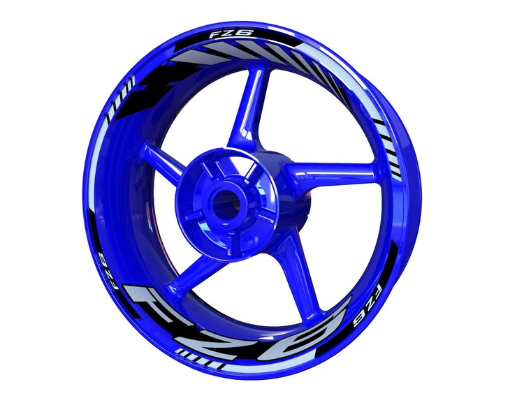 FZ6 Wheel Stickers Standard (Front & Rear - Both Sides Included)