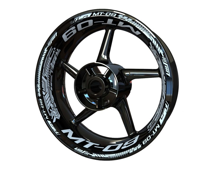 Yamaha MT-09 Wheel Stickers Plus (Front & Rear - Both Sides Included)