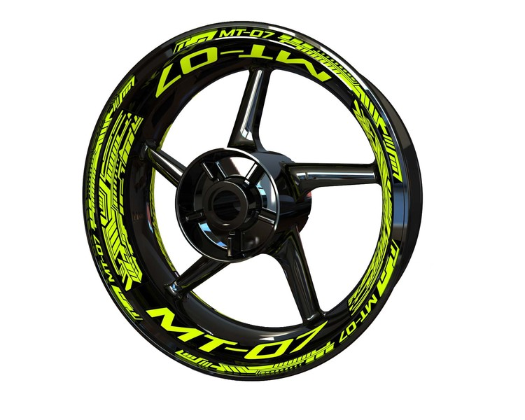 Yamaha MT-07 Wheel Stickers Plus (Front & Rear - Both Sides Included)