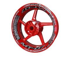 Yamaha MT-07 Wheel Stickers kit - Plus Design