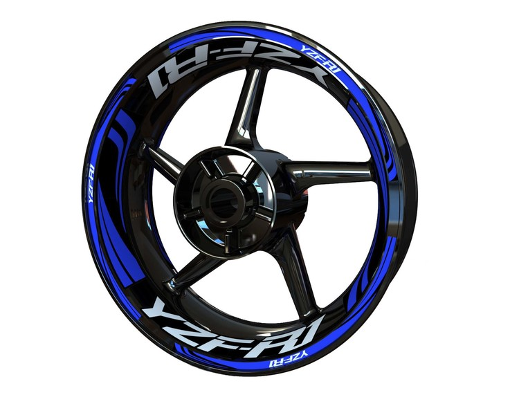 YZF-R1 Wheel Stickers Plus (Front & Rear - Both Sides Included)