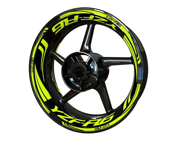 YZF-R6 Wheel Stickers Plus (Front & Rear - Both Sides Included)