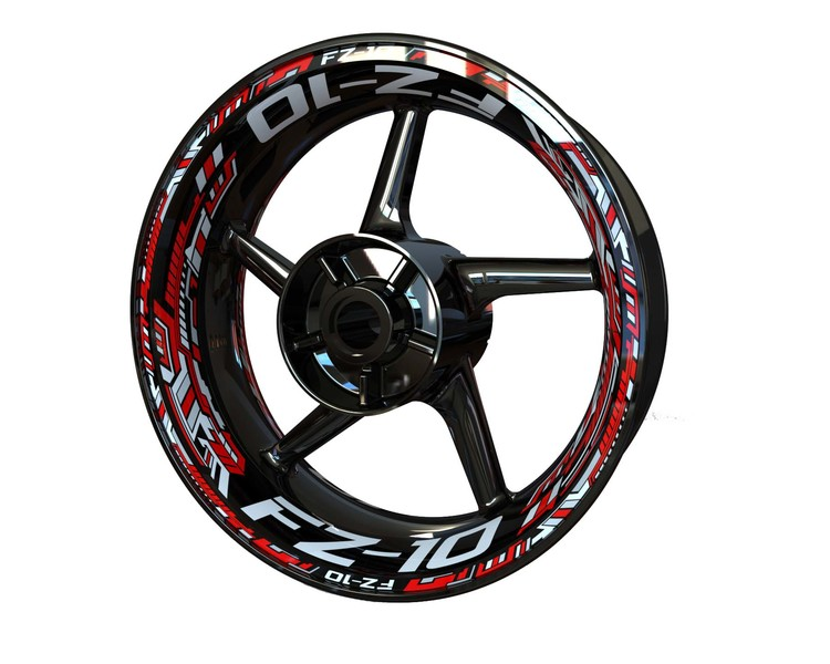 Yamaha FZ-10 Wheel Stickers kit - Premium Design
