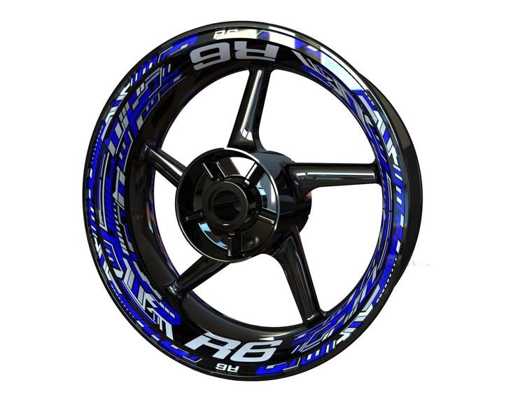 Yamaha R6 Wheel Stickers kit - Premium Design