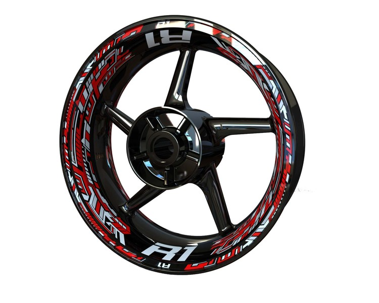 Yamaha R1 Wheel Graphics Premium (Front & Rear - Both Sides Included)