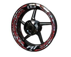 Yamaha R1 Wheel Stickers kit - Premium Design