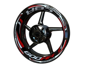 Honda CBR600RR Wheel Stickers Plus (Front & Rear - Both Sides Included)
