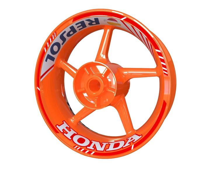 Honda Repsol Wheel Stickers kit - Standard Design