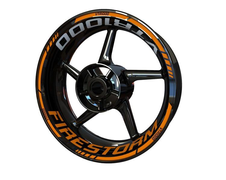 Honda VTR1000 Firestorm Wheel Stickers Standard (Front & Rear - Both Sides Included)