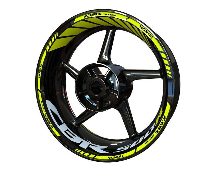 Honda CBR500R Wheel Stickers Standard (Front & Rear - Both Sides Included)