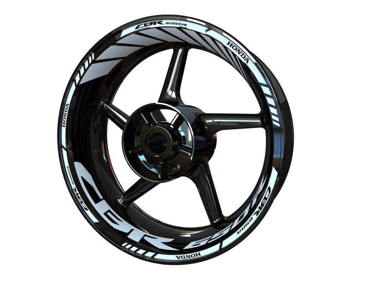 Honda CBR650R Wheel Stickers Standard (Front & Rear - Both Sides Included)