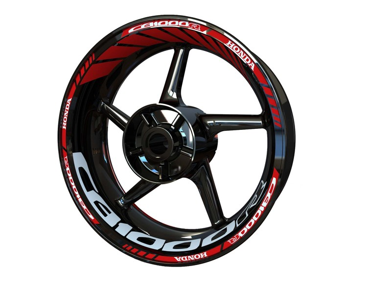 Honda CB1000R Wheel Stickers Standard (Front & Rear - Both Sides Included)