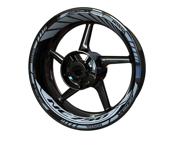 Honda NC750X Wheel Stickers Standard (Front & Rear - Both Sides Included)
