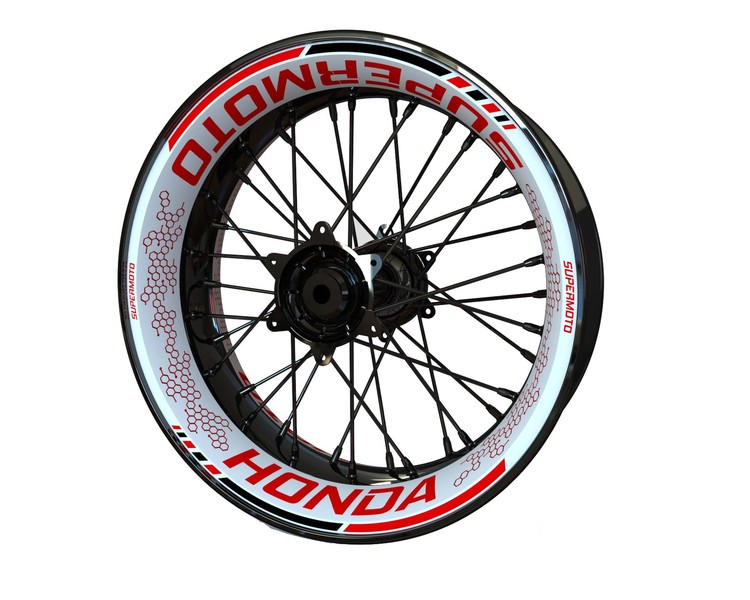 Honda CRF SUPERMOTO Wheel Graphics Premium (Front & Rear - Both Sides Included)