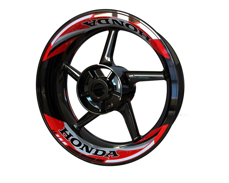 Honda Rim Stickers 2-piece V2 (Front & Rear - Both Sides Included)